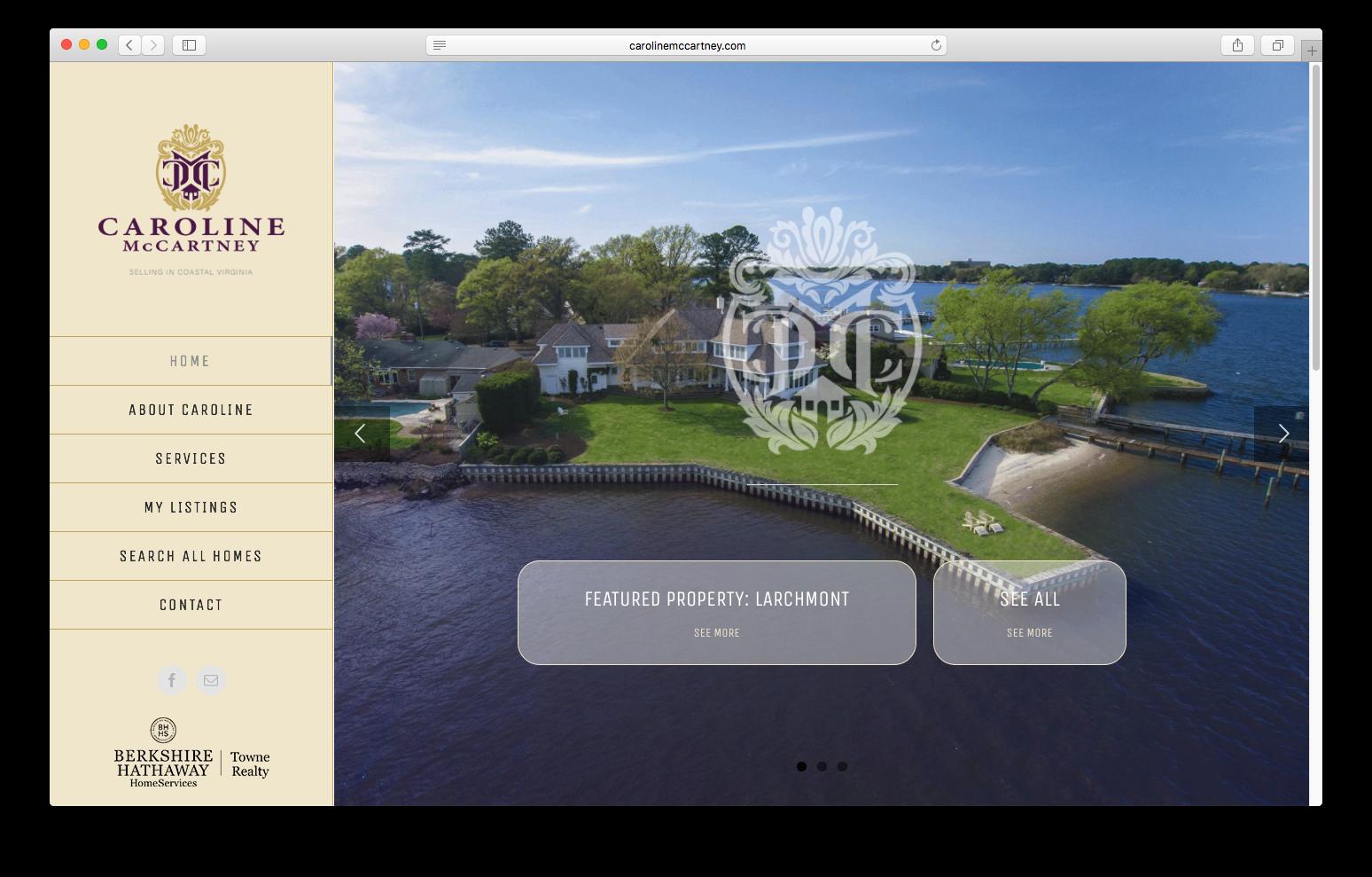 Caroline McCartney Website