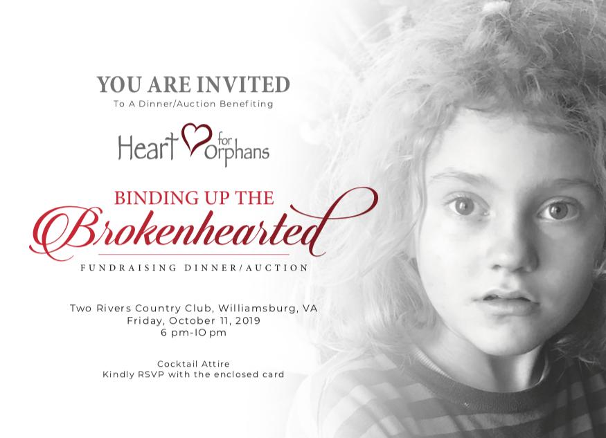 Heart For Orphans Invite