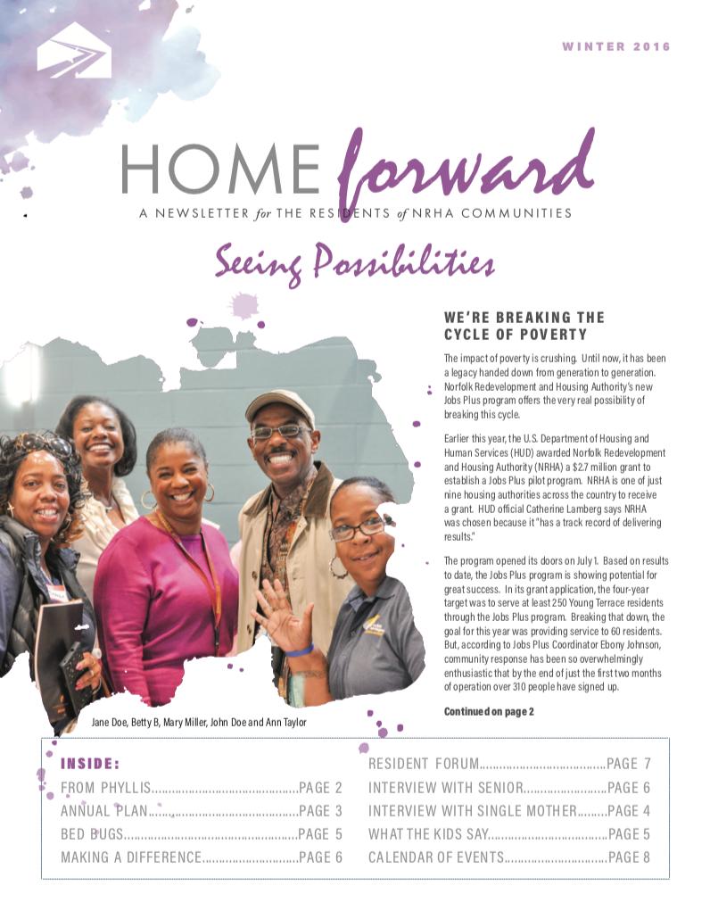 Home Forward Newsletter Cover